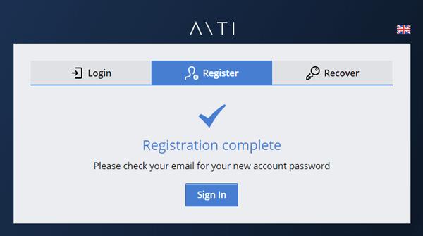 AntiCaptcha登録画面