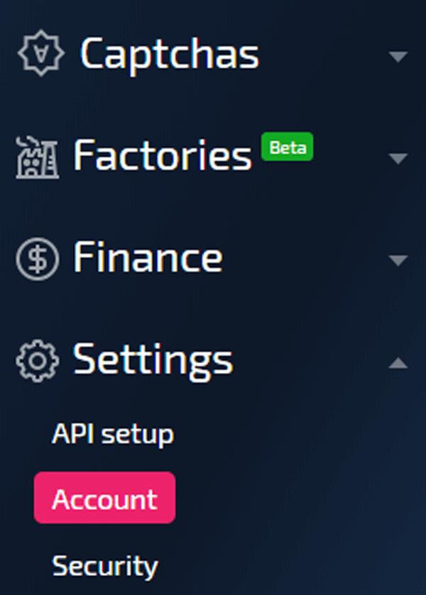 AntiCaptchaパスワード変更